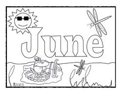 june coloring coloring pages colouring pages flower
