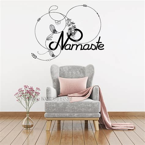 hello home decor aliexpress buy namaste feathers vinyl wall sticker