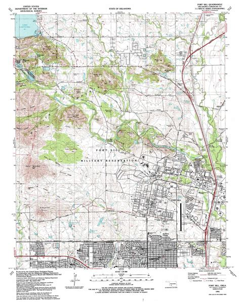 topographical map of oklahoma topo map of ft sill refuge