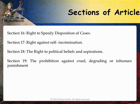 bill of rights section 18 explanation article three of the constitution and the bill