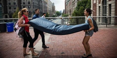 the columbia student who s carrying a mattress until