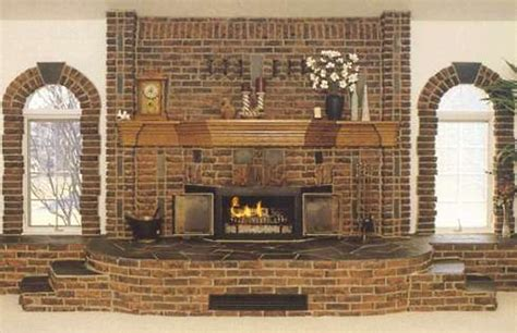 finely crafted brick fireplaceblending