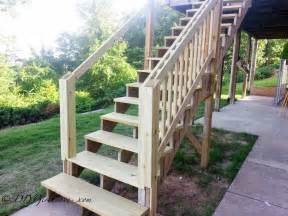 Fall Curb Appeal - platform deck under our deck stairs