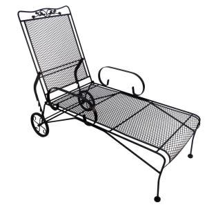 wrought iron chaise lounge home depot arlington house glenbrook black patio chaise lounge