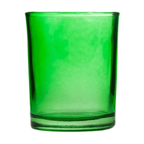 green votive holders green glass votive candle holder
