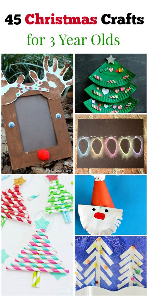45 christmas crafts for 3 year olds