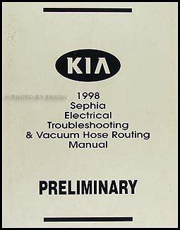 car repair manual download 1998 kia sephia head up display 1998 1999 kia sephia electrical troubleshooting manual original
