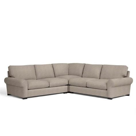 pottery barn l shaped couch pottery barn turner roll arm upholstered 3 piece l shaped