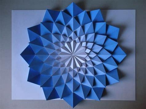 3d Geometric Origami - kota hiratsuka makes impressive origami mosaics