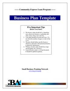 business plan template for pages 9 best images of business plan cover sheet exle