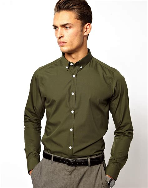 Button Collar Shirt mens button collar shirts artee shirt