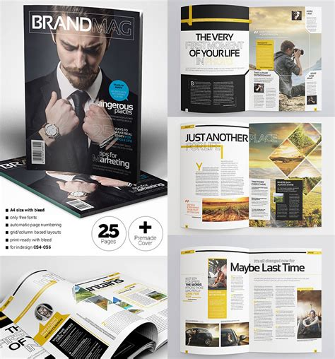 magazine layout classes 20 magazine templates with creative print layout designs