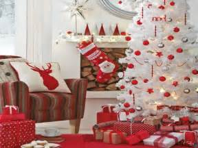 Christmas decorating ideas gt easy red and white christmas decorating