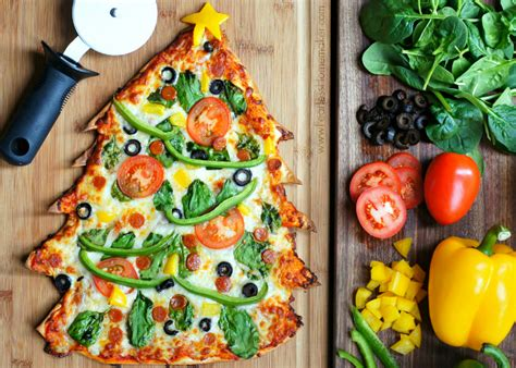 christmas pizza tree pizza featuring the best thin crust pizza recipe