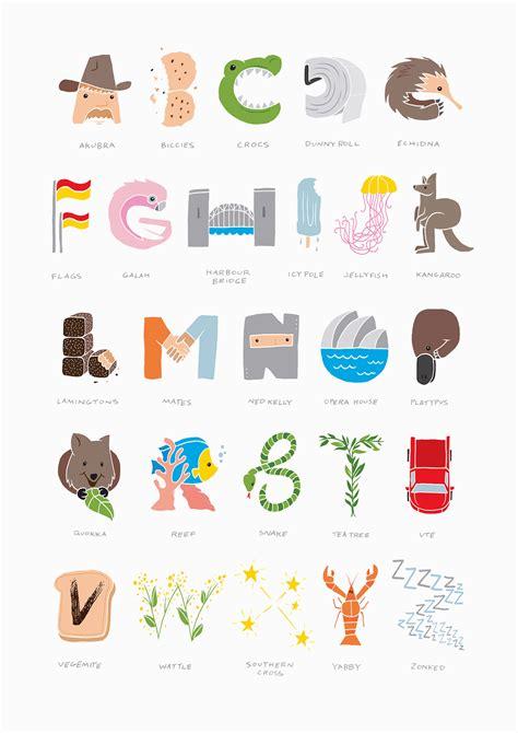 alphabet australia foster type
