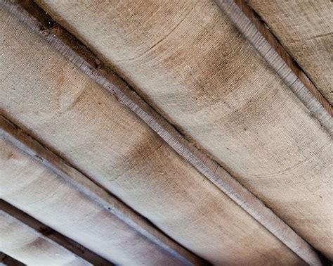burlap ceiling basement