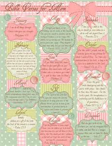 Printable calendar of bible verses for mom