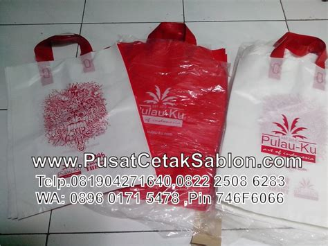 Sablon Plastik Souvenir Pernikahan Tas Besar Yasin jasa cetak buat sablon tas plastik di kota singaraja