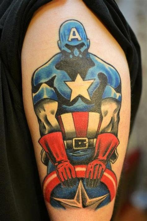 captain america tattoos animated captain america designs