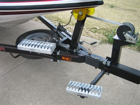 boat trailer winch step diy boat trailer steps do it your self