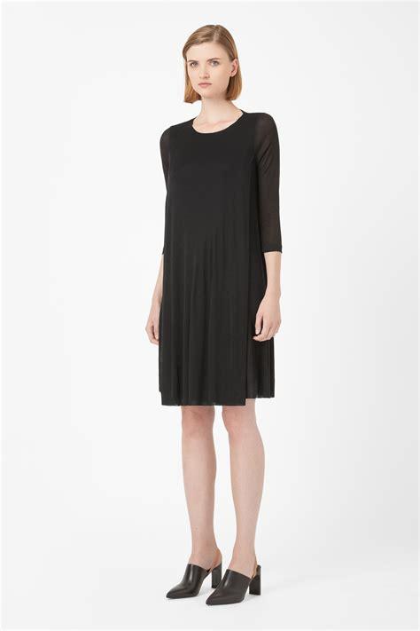 Black Layer Dress W8211usn I cos layer dress in black lyst