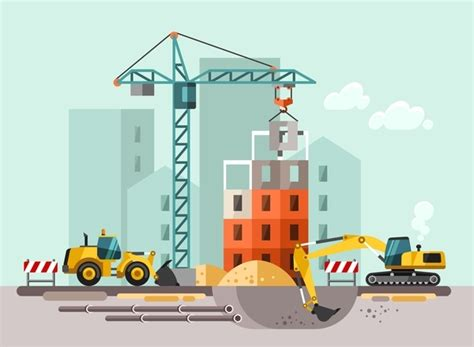 city building construction template vectors 10 vector