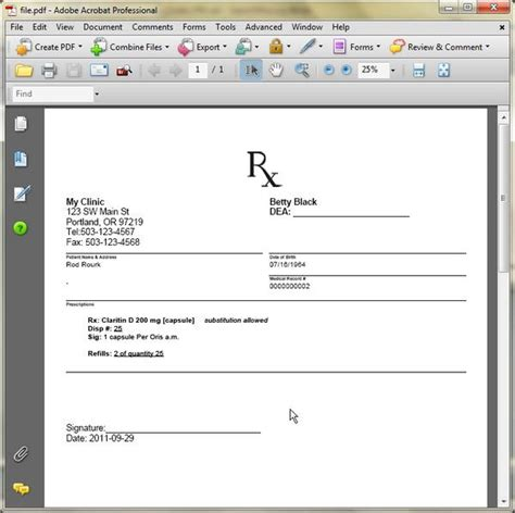 doctor prescription template download free premium