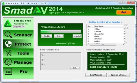 Anti Virus Terbaru free antivirus smadav terbaru 2014 versi 9 8 1 update 8 september 2014 topdownloadsmu