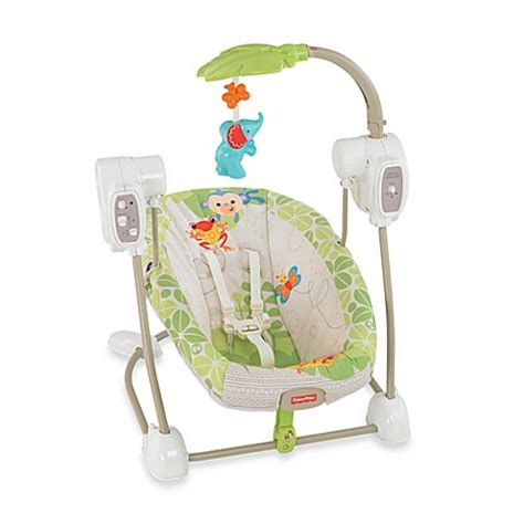 space saver swing and seat fisher price 174 rain forest friends spacesaver swing seat