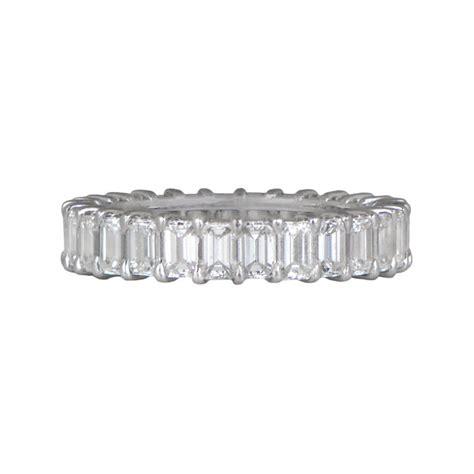 Wedding Rings Emerald Cut by Emerald Cut Wedding Band Estate Jewelry