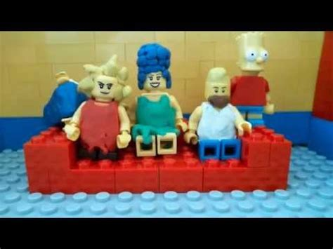 lego simpsons couch the simpsons new intro in lego youtube