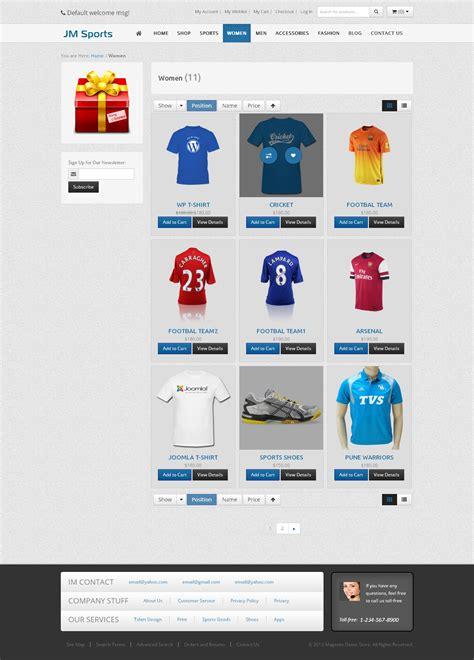 magento responsive template jm sports magento responsive template