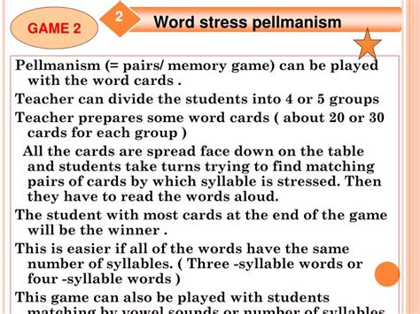 games for teaching word stress and intonation ppt video ppt games for teaching word stress and intonation