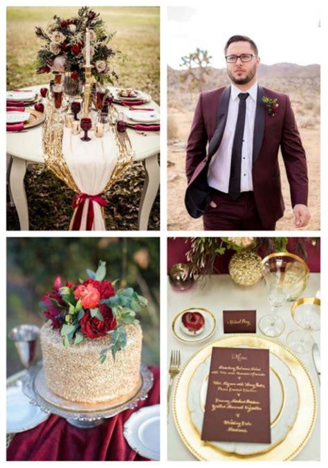 wedding themes gold and burgundy 44 elegant burgundy and gold wedding ideas happywedd com