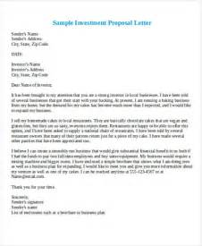 Business Investment Proposal Template 37 Business Proposal Letter In Word