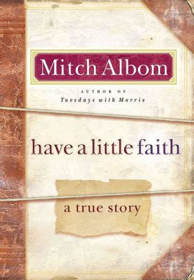 A Faith A True Story a faith a true story by mitch albom hardcover barnes noble 174