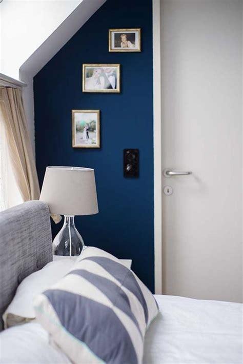 blaue vorhänge dekor blau schlafzimmer