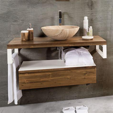 bagno mobili mobile bagno sospeso moderno teak white cip 236 in offerta