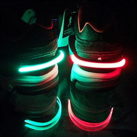 running shoe led lights outdoor safety shoe clip bicycle alarm lights running