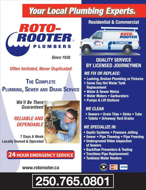 Roto Rooter Plumbing Drain by Roto Rooter Sewer Drain Service Canpages