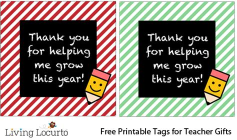 printable teacher thank you gift tags boogers books baking end of the school year gifts