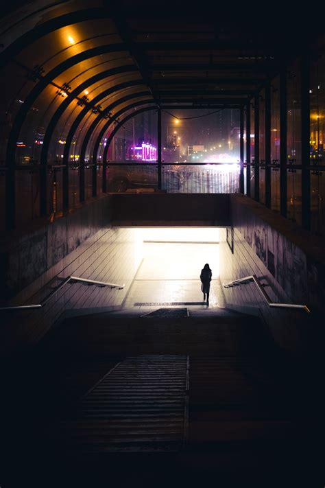 images silhouette light street night camera