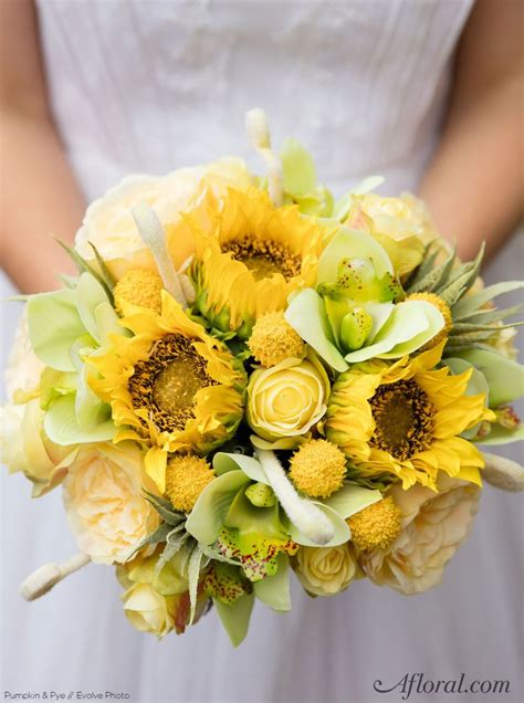 How To Make Wedding Bouquets Using Artificial Flowers by 134 Best Yellow Wedding Flowers Images On