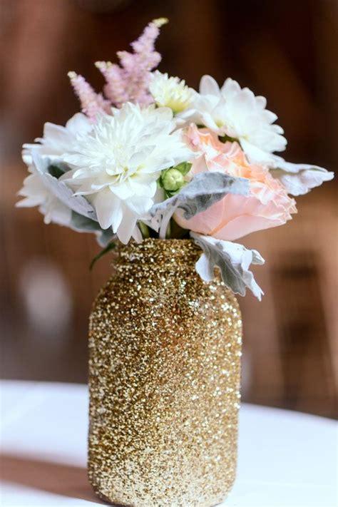 gold glitter jar gold vase gold jar