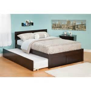 Platform Bed Trundle Atlantic Furniture Orlando Platform W Flat Panel Footboard