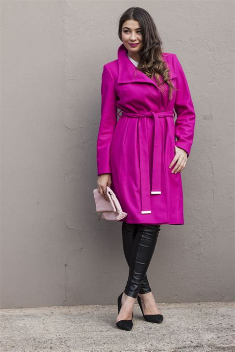Ted Baker Ted Guys Ite1119 ted baker pink coat