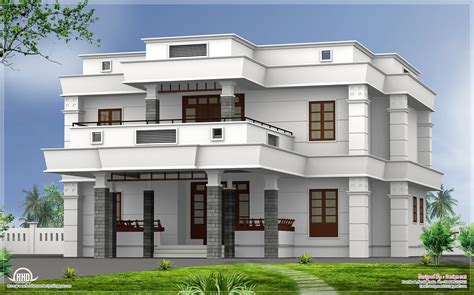 home front design kerala style flat roof homes designs bhk modern flat roof house