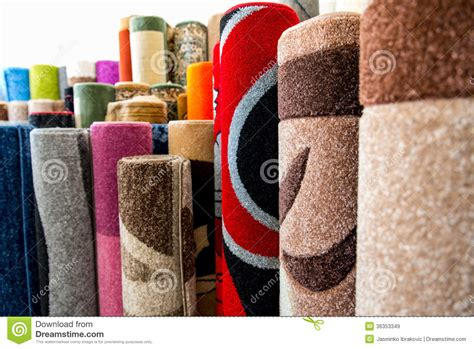 Carpets And Rugs For Sale Colorful Rugs For Sale At Store Royalty Free Stock Images