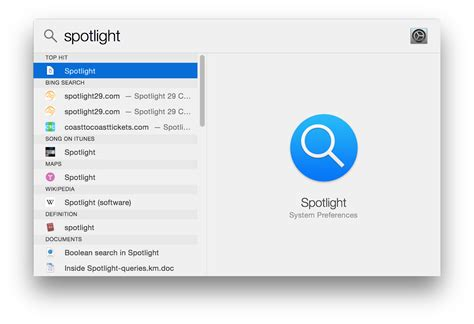 Search Info How To Use Spotlight In Yosemite To Search For Files Apps Web Info And More Macworld
