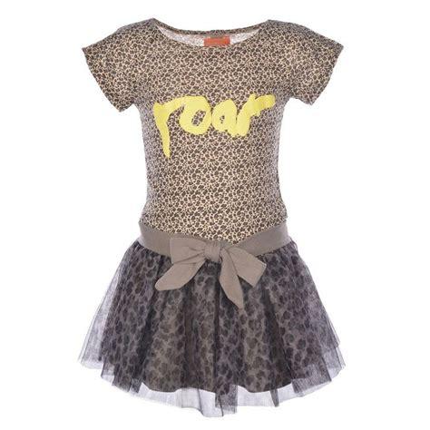 baby jurk panter grijs beige panter jurk van dress like flo model juul